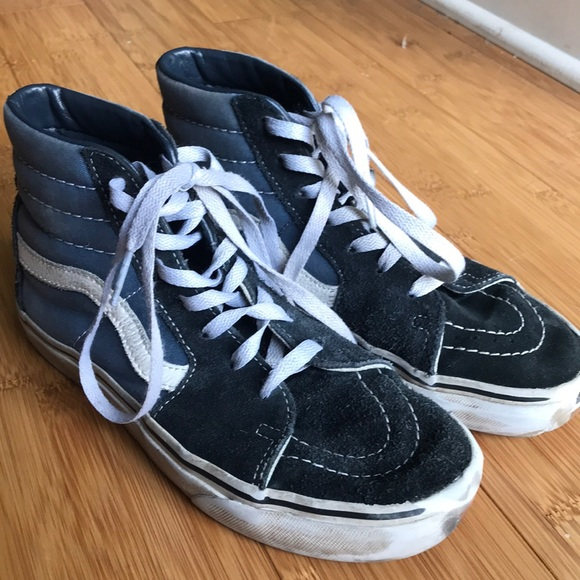 Vans Shoes - Sk8-HI Vans Navy Blue Black 87e2aba03